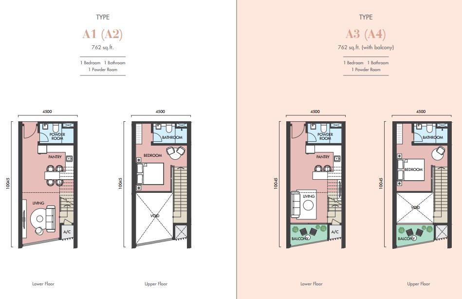 EkoCheras Apartment Tower H & J Floor Plan