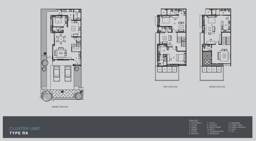 Marvelane Homes Cluster Unit Layout