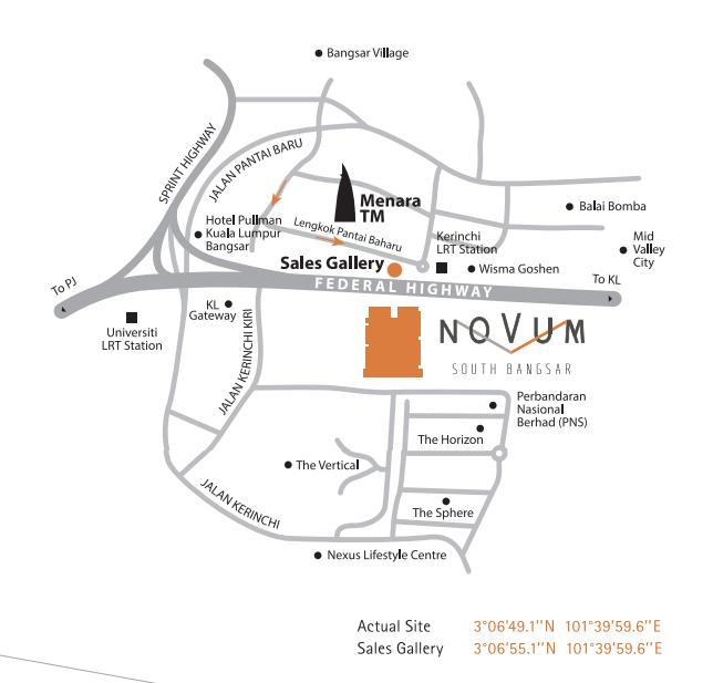 Novum Location Map