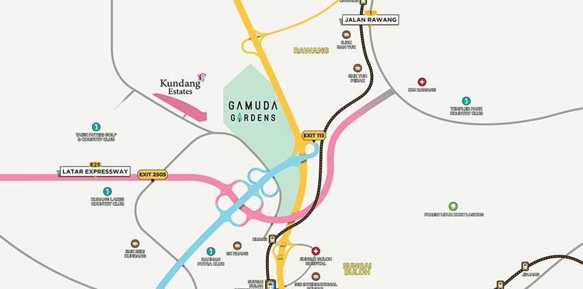 Gamuda Gardens Location